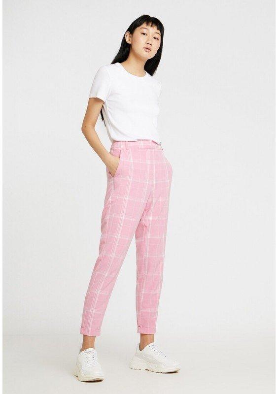 Vero Moda VMVIDA ANCLE PANT - Spodnie materiałowe - prism pink/tonal rozm 42