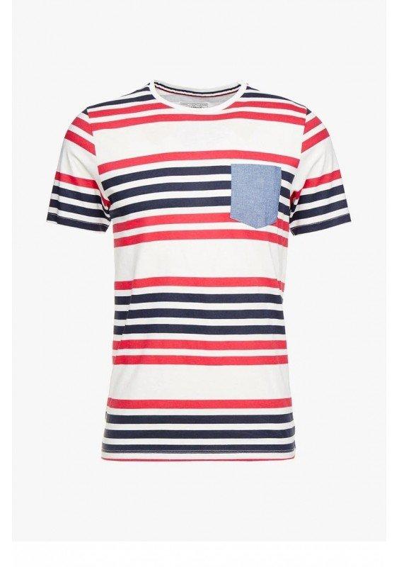 PKTGMS TWIN STRIPE TEE - T-shirt z nadrukiem