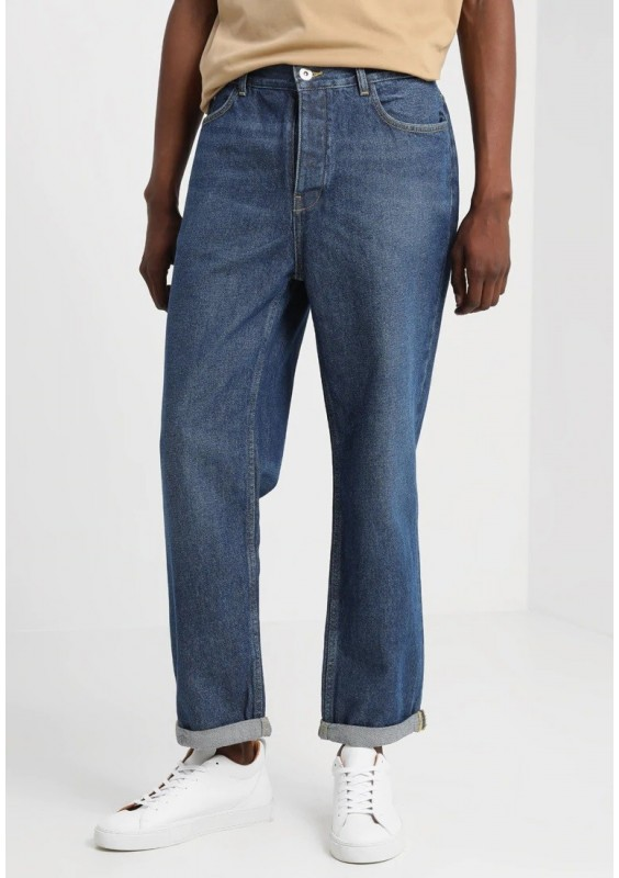 FoR KIRTLIONG WIDE LEG - Jeansy Relaxed Fit - mid wash