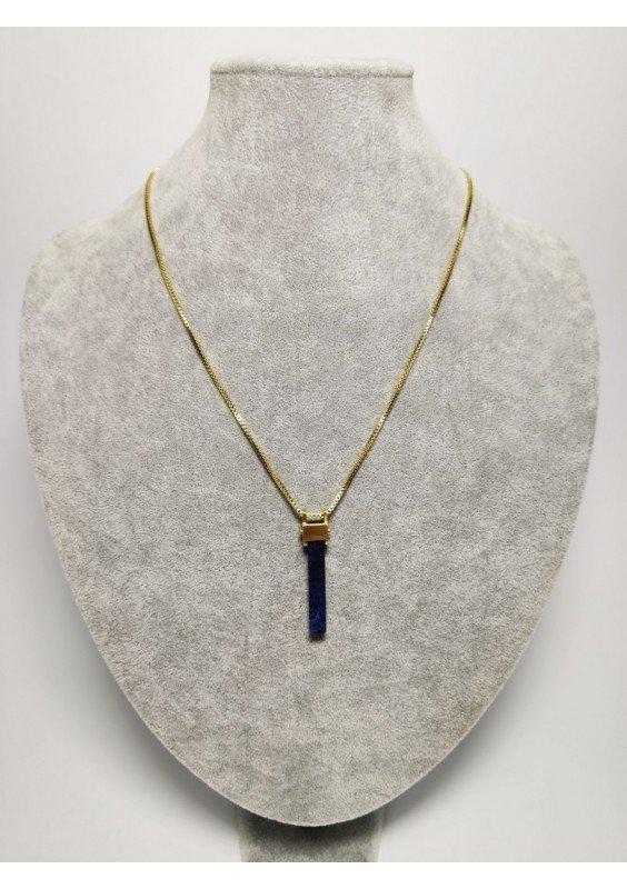 Pilgrim Naszyjnik Pozłacany niebieski kamień