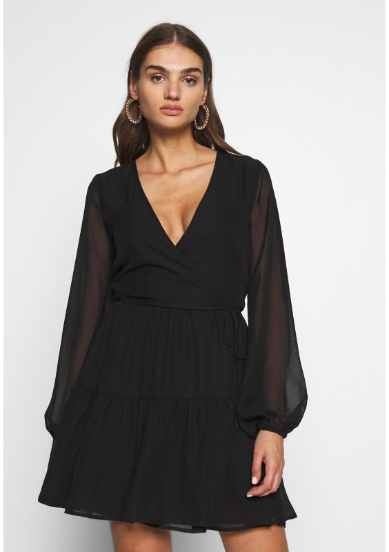 Nly by Nelly FIERCE WRAP DRESS - Sukienka letnia - black