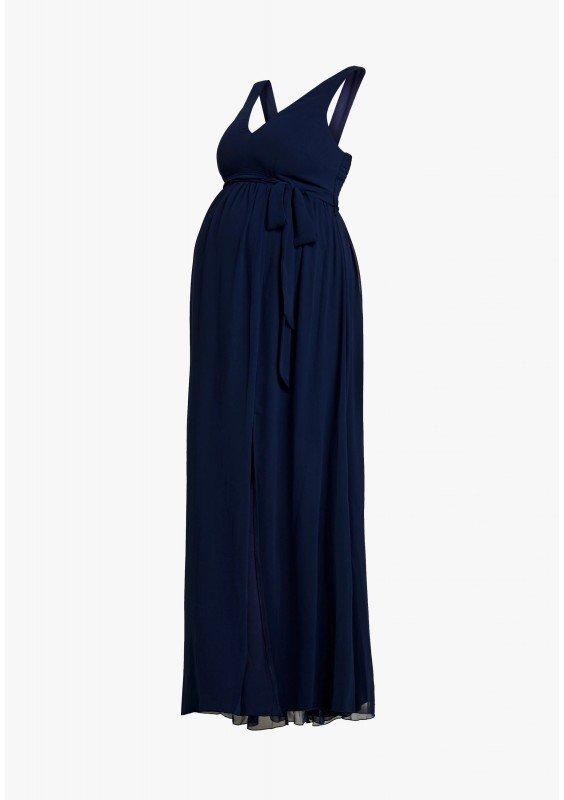 Little Mistress Maternity EXCLUSIVE ROSE V NECK DRESS - Suknia balowa - navy