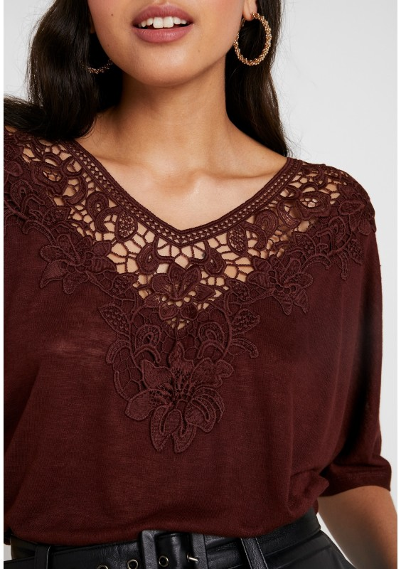Only ONLCAMI LOOSE CROCHET - T-shirt z nadrukiem