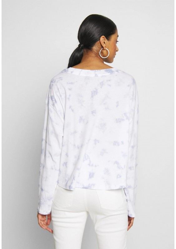 Cotton On RELAXED FIT GRAPHIC LONG SLEEVE - Bluzka z długim rękawem - white/light blue