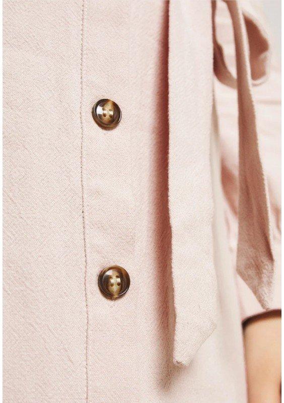 Glamorous Curve TIE WAIST SQUARE NECK DRESS - Sukienka koszulowa
