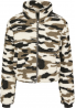 Urban Classics Women Ladies Sherpa Jacket Camo S